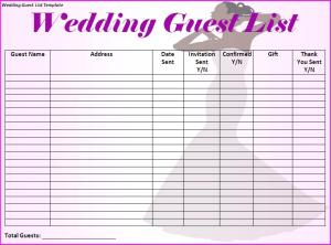 Creating Your Wedding Guest List - Who Do You Invite