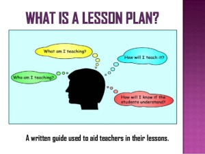 Lesson Planning - How to Design an Effective Curriculum