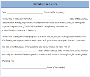 Introduction Letter for a Real Estate Agent