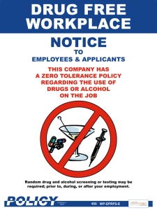 Drugs and alcohol free workplace
