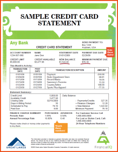 On Credit Cards and Questionable Billing Statements