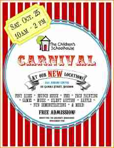Publicity Ideas for Your School Carnival - How to Get More Families and Community Members to Come OpenOffice Carnival Flyer