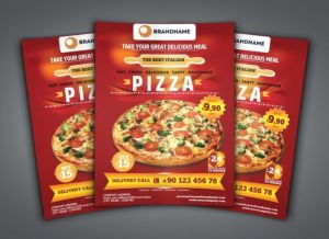 Pizza Menu Printing With Coupons